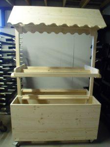 rayonnage magasin en bois fabriqué main